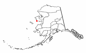 Location of Nome, Alaska