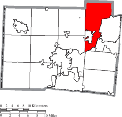 Location of Madison Township in Butler County