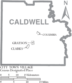 Map of Caldwell Parish Louisiana With Municipal Labels.PNG