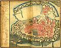 Map of Copenhagen by J.F. Arnoldt, January 1728.jpg