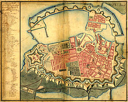 Map of Copenhagen by J.F. Arnoldt, January 1728.jpg