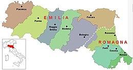 Cartina Dell Emilia Romagna Politica.Emilia Romagna Wikipedia