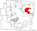 Map of Franklin County Ohio Highlighting Gahanna City.png