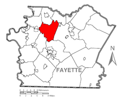 Location of Franklin Township in Fayette County