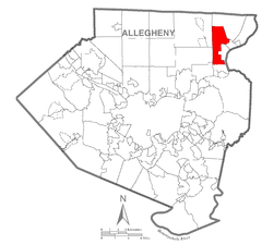 Map of Frazer Township, Allegheny County, Pennsylvania Highlighted.png