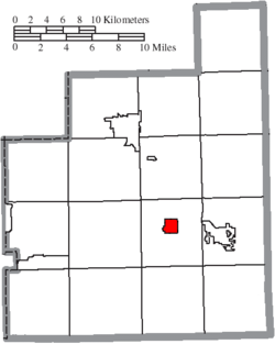 Location of Burton in Geauga County
