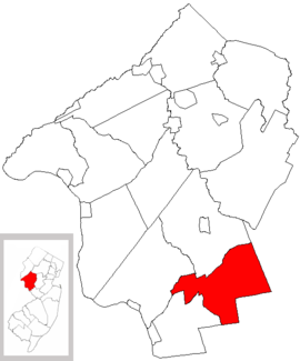 Map of Hunterdon County highlighting East Amwell Township.png