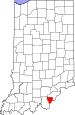 Map of Indiana highlighting Floyd County.svg
