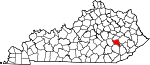 State map highlighting Owsley County
