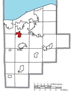 Location of South Amherst in Lorain County