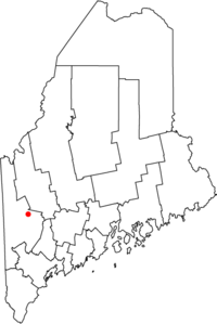Location of Rumford, Maine