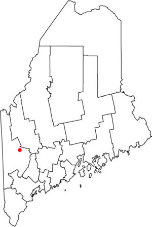 Mexico, Maine - Location of town of Mexico in Oxford County, state of Maine