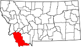 Map of Montana highlighting Beaverhead County.svg