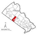 Map of New Britain Township, Bucks County, Pennsylvania Highlighted.png