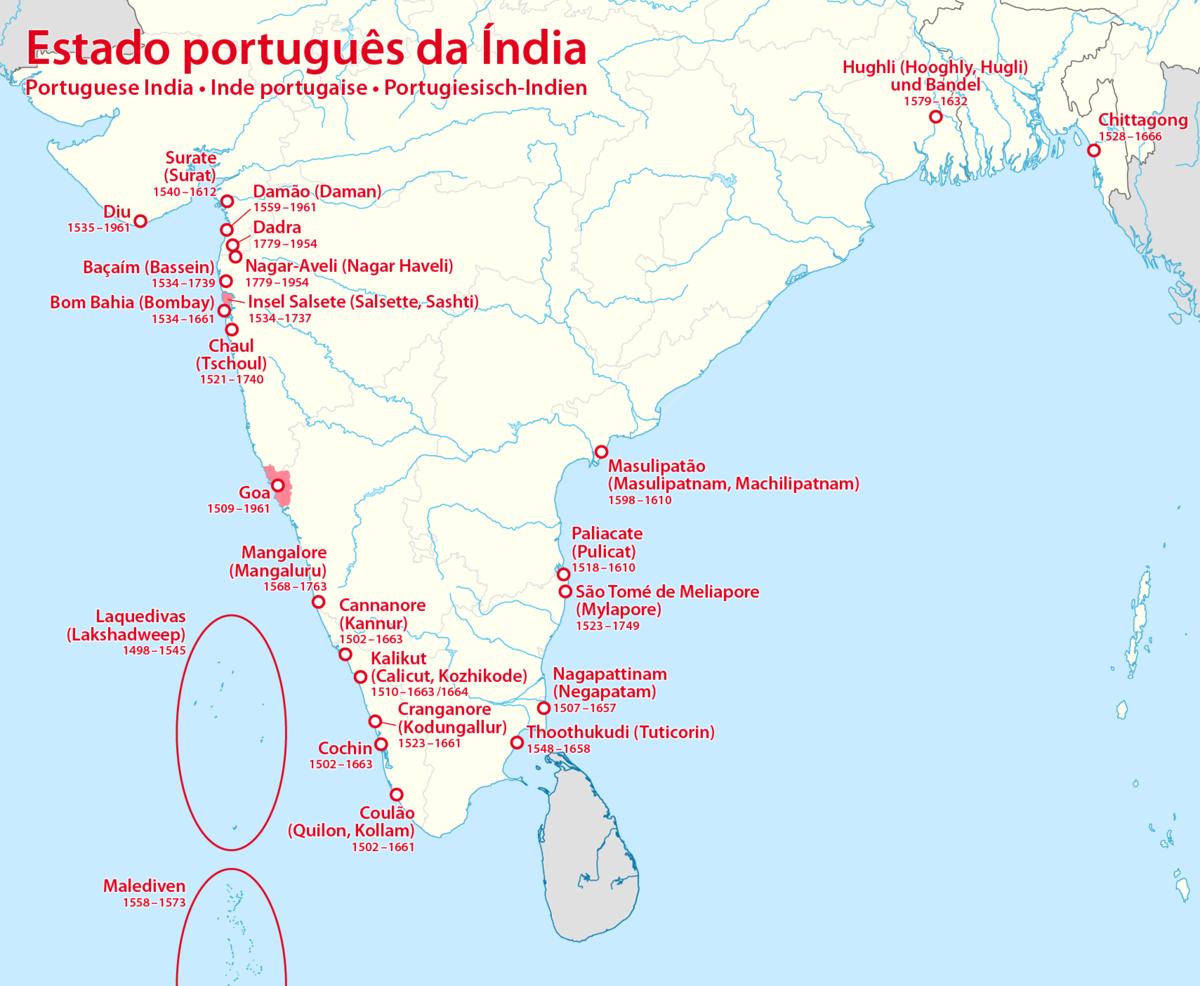 Inde portugaise wikip dia - Comptoirs francais en inde ...