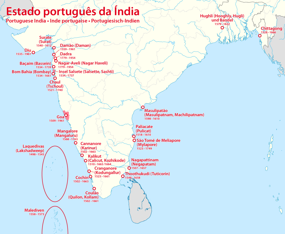 Map of Portuguese India