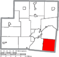 Map of Shelby County Ohio Highlighting Green Township.png
