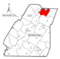 Map of Somerset County, Pennsylvania highlighting Paint Township.PNG