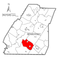 Map of Somerset County, Pennsylvania Highlighting Summit Township