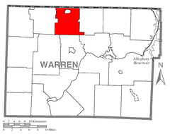 Map of Sugar Grove Township, Warren County, Pennsylvania Highlighted.png