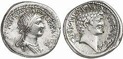 Marcus Antonius - Cleopatra 32 BC 90020163.jpg