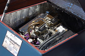 Chrysler Hemi engine - The Chrysler Marine Hemis were popular in wooden boats during the 1950s and 60s