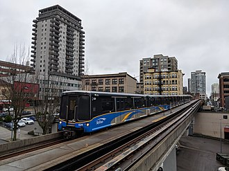 Expo Line (TransLink) - An Expo Line train in New Westminster