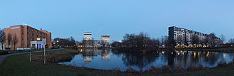 Marl, North Rhine-Westphalia - Panoramic view of Marl City with town hall