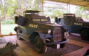 British South Africa Police - Armoured cars of the BSAP Reserve.