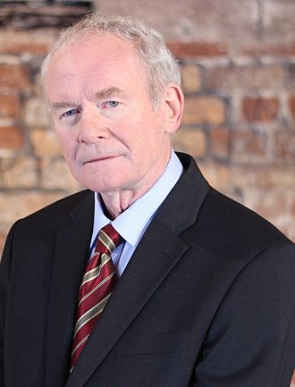 First Minister and deputy First Minister of Northern Ireland - Image: Martin Mc Guinness in Jan 2017 (cropped)