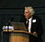 Martin Rees delivering a lecture at Jodrell Bank