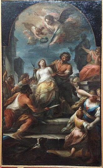 Mariano Rossi - Martyrdom of St Agatha, Catania
