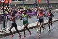 Mary Keitany, Tiki Gelana and Priscah Jeptoo - 2012 Olympic Womens Marathon.jpg