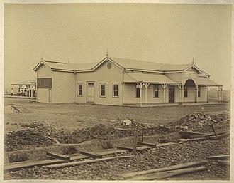 Maryborough railway station, Queensland - Maryborough railway station, ca. 1882