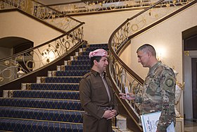 Masrour Barzani with Stephen Townsend in Erbil, Iraq, 2016.jpg