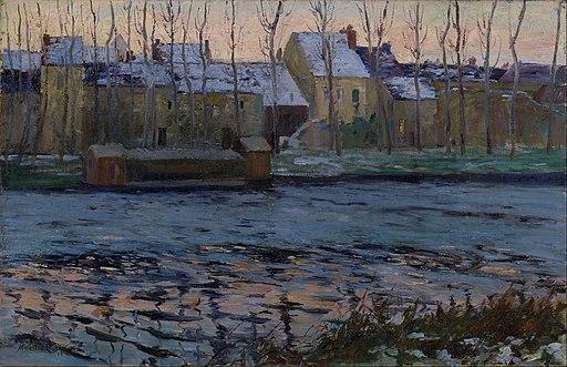 Maurice Cullen - Moret, Winter - Google Art Project