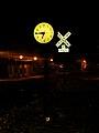 Mazomanie Village Clock at Night - panoramio.jpg
