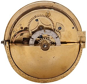 "Automatic watch - Circa 1778 automatic watch with rotor weight. Signed on the dial ""Mazzi à Locarno""."