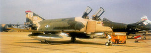 43d Fighter Squadron - McDonnell Douglas F-4E-35-MC Phantom II, AF Serial No. 67-0305 of the 43d TFS.