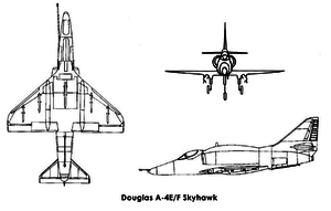 Orthographically projected diagram of the A-4 Skyhawk / Ortograficky projektovaný diagram A-4 Skyhawku