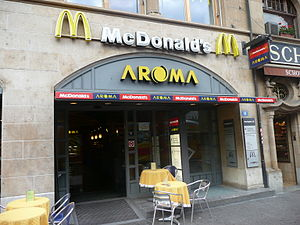 A McDonald's in downtown Basel, Switzerland.