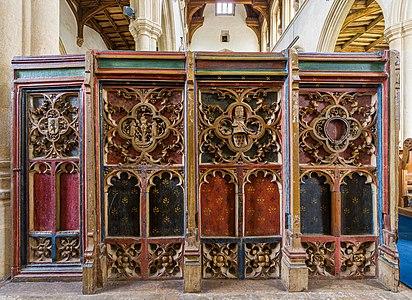 Mediaeval screenwork, Church of St Peter and St Paul