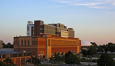 Memorial Stadium with the State Farm Center in the background MemorialStadiumIllinois.jpg