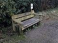 Memorial bench at Ham Wall - 2018-03-09 - Andy Mabbett - 02.jpg