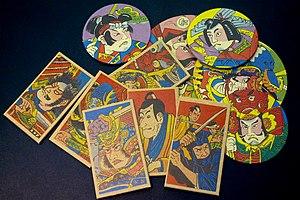 Menko - Rectangular and various size round menko cards.