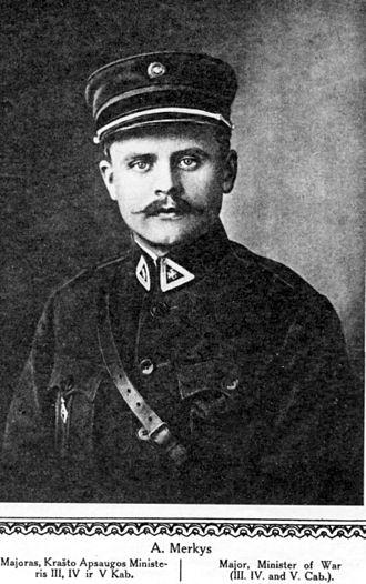 Antanas Merkys - A. Merkys in 1921