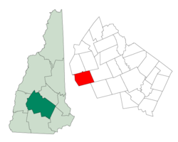 Location in Merrimack County, New Hampshire
