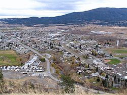 Merritt as seen from a hillside Northwest of the city