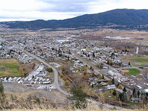 Merritt, British Columbia - Merritt as seen from a hillside Northwest of the city