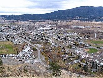 Merritt, British Columbia - Merritt as seen from a hillside Northwest of the city